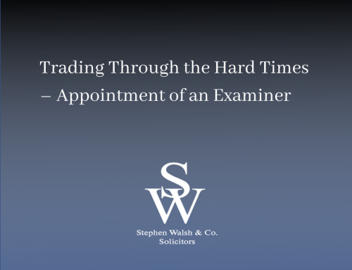 Trading Through the Hard Times – Appointment of an Examiner