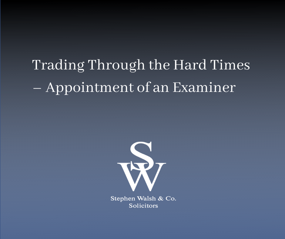 Appointment of an Examiner